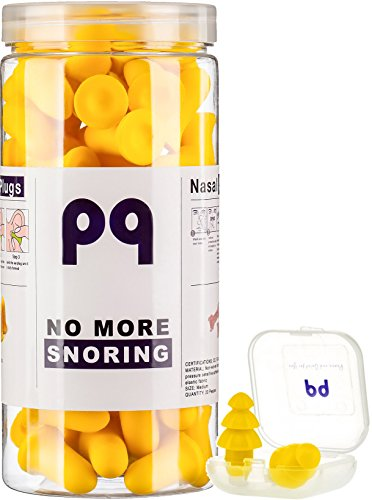 PQ Earplugs for Sleep - Comfortable & Reusable Ear Plugs for Side Sleepers - Sound Blocking Level 32 dB - Noise Cancelling for Snoring & Reusable Ear Plugs for Swimming & Traveling by Peace&Quiet