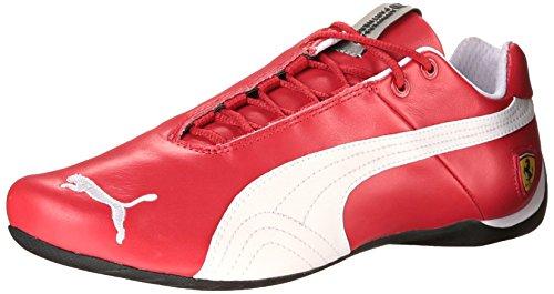PUMA Men's Future Cat Leather Ferrari Sneaker, Rosso Corsa-White, 12 M US