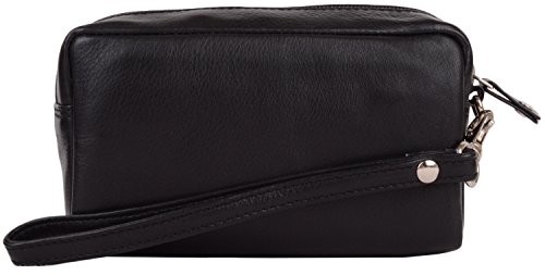 Travel Black Cosmetic Bag Pouch Holiday Soft Large Leather Womens wRxqtaFn