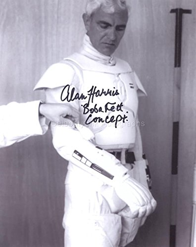 ALAN HARRIS - Concept Boba Fett costume tryout - Star Wars: Episode V GENUINE AUTOGRAPH