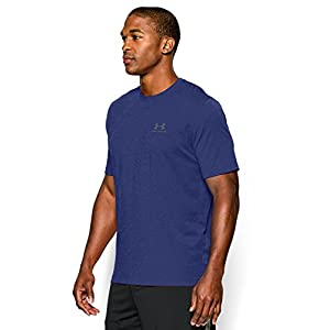 Under Armour Men's Charged Cotton Sportstyle T-Shirt, Royal/Steel, Large