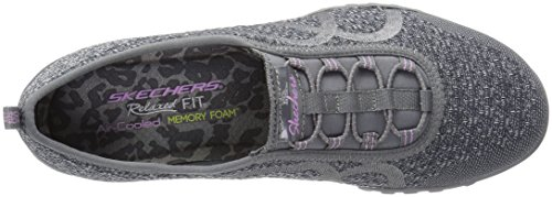 Skechers Charcoal Easy Femme Knit Sneakers Breathe Basses Fortune w4B6r8Y4