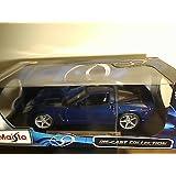 Maisto Die Cast 1:18 Scale Metallic Blue 2005 Chevrolet Corvette Coupe