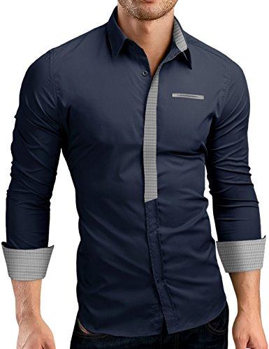Grin&Bear Slim Fit Mens Contrasted Placket Shirt Dress Shirt, SH00513