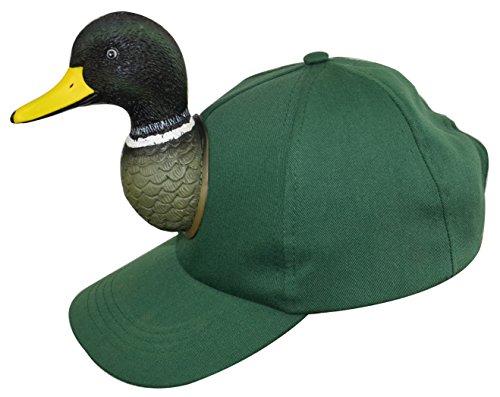 Mallard Duck Hunting - Mallard Duck Green 3D Animal Adult One Size Cotton Ball Cap Hat
