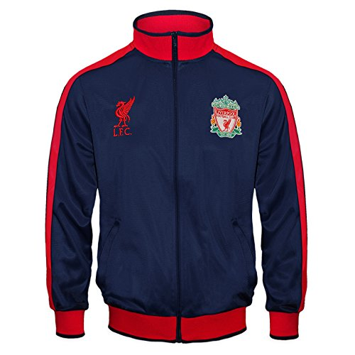 Liverpool FC Official Soccer Gift Boys Retro Track Top Jacket Navy 10-11 Yrs LB