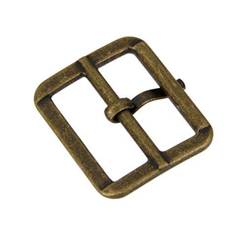 (Pack of 10 Metal Sliding Bar Tri-Glides Wire-Formed Roller Pin Buckles Slider 25mm Bronze)