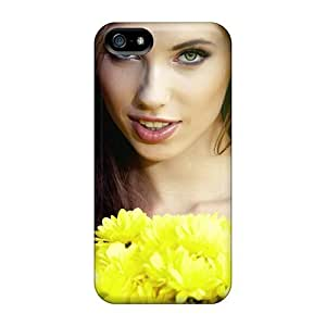 New Cute Funny Girl And Flowers Cases Covers/ Iphone 5/5s Cases Covers