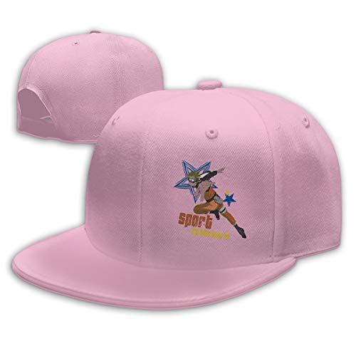 Aiguan Naruto Flat Visor Baseball Cap, Designed Snapback Hat Pink