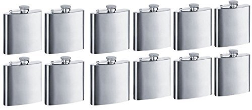 Gifts Infinity Personalized 8oz Stainless Steel Groomsman, Bridesmaid Flask - Engraved (12, 8oz)