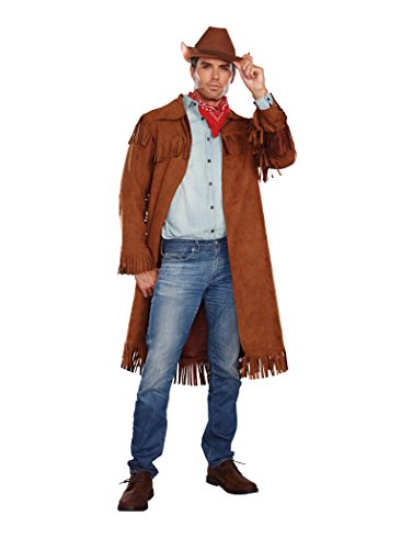 Brown Coat Costume (Dreamgirl Men's Rifleman Costume, Brown,)