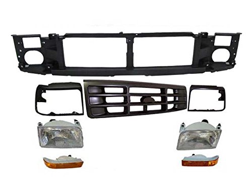 92-97 FORD F250 F350 HEADER PANEL GRILLE ARGENT BEZEL 8 (Panel Header Ford Bronco)