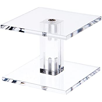 Amazon Com Plymor Brand Clear Acrylic Square Barbell