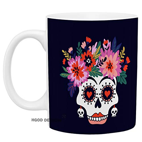 HGOD DESIGNS Funny Skull Coffee Mug Funny Halloween