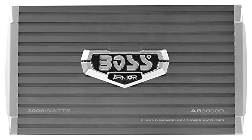 BOSS AUDIO CF802 AR3000D 3000 Watt, 1, 2, 4 Ohm Stable Class D Monoblock Car Amplifier with Remote Subwoofer Control