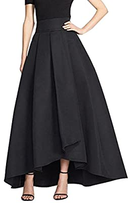 CoutureBridal Womens Long A Line Skirt Formal High Low Maxi Skirts Prom Party Customizable