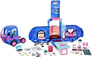LOL Surprise 4-in-1 Glamper Fashion Camper with 55+ Surprises Fully-Furnished with Light Up Pool, Water Slide,