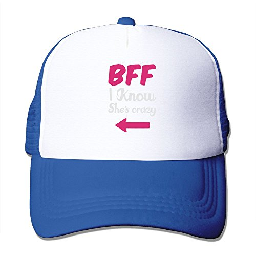 AKQQ0XXA Custom Funny Adult TeeStars - BFF I Know Shes Crazy - National Best Friends Day! Travel Cap Hat Royalblue ()