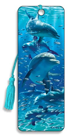 Artgame - Dolphins - 3D Bookmark from Artgame