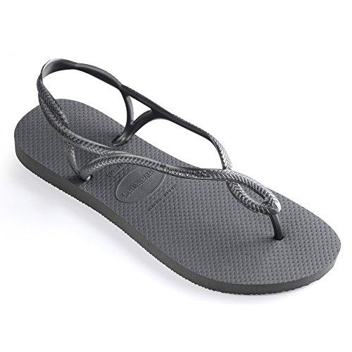 Havaianas - Sandalias de vestir para mujer gris acero