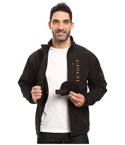 Cinch Men's Bonded Softshell Jacket with Concealed Carry Pockets, Black, XX-Large
