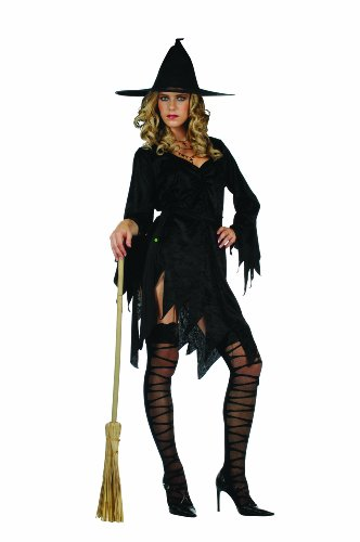 RG Costumes Sexy Witch, Black, One Size (Cheap Sexy Halloween Costumes For Women)