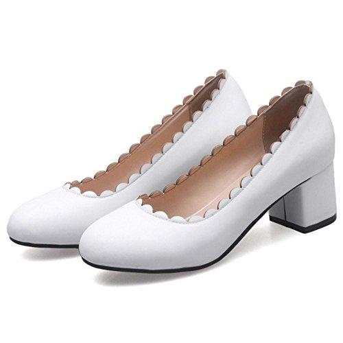 Escarpins Coolcept Bout Femmes White Rond wtztqr