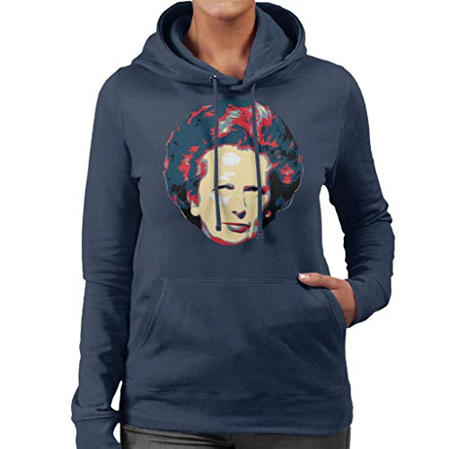 Thatcher Thatcher Women's Art Navy Sweatshirt Hooded Hooded Hooded Cloud City Pop Blue 7 Margaret wqtOTY