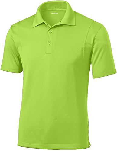 Dri-EQUIP Mens Tall Moisture Wicking Micropique Golf Polo-Lime-3XLT
