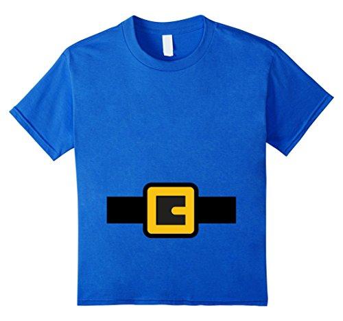 Kids Dwarf Costume Shirt, Halloween Matching Shirts for Group 10 Royal Blue