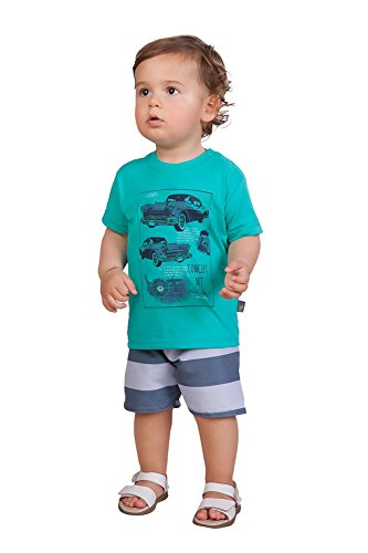 Old Navy Kids Clothes - Pulla Bulla Baby Boy 2-Piece Set Shirt and Shorts Outfit 3-6 Months Cancun