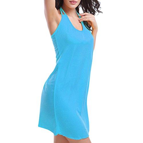 Hee Grand Femmes Robe De Plage FR 36/38(CN M) Bleu