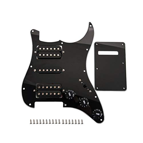 Artibetter 1 Set Loaded Pickguard Pickguard Kits Black Wired Back Cover Plate Pickguard Humbuckers for Guitar Parts