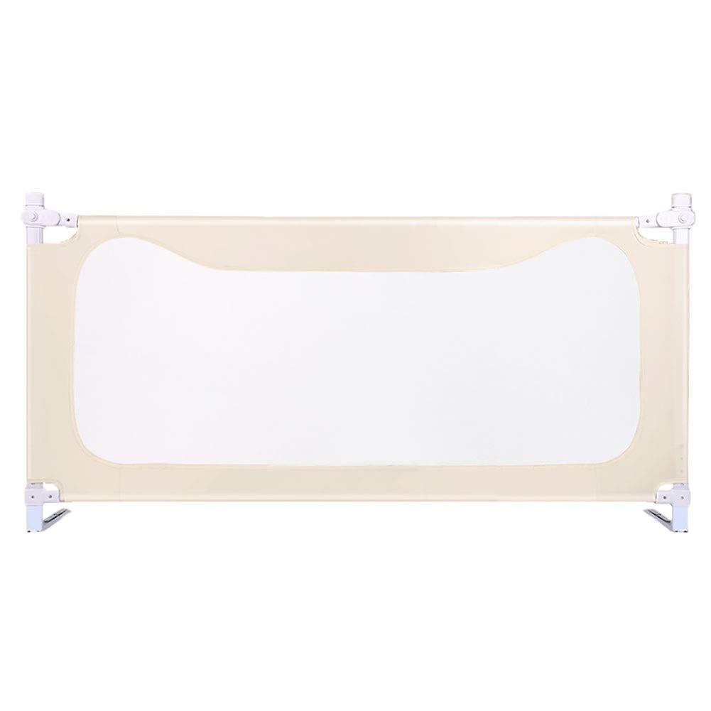 ベッドレール 女の子のためのライスホワイトベッドレール - ダブル&クイーン&キングサイズベッド、安全チャイルド保護フェンス用のエクストラトールベビーレール (サイズ さいず : 1.8m) 1.8m  B07SDRNGQ1