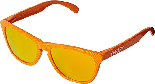 Oakley Men's Frogskins (a) Polarized Iridium Rectangular Sunglasses, Matte Brown Tortoise, 54 - Sunglasses Orange Oakley