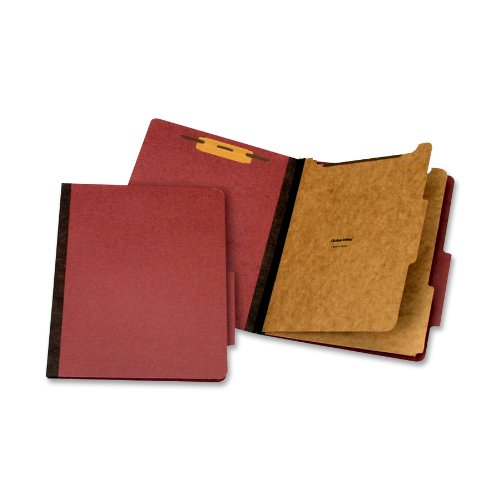 Globe-Weis/Pendaflex Classification Folder, Letter Size, 2 Dividers, Red, (PU61 RED)