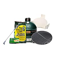 MiniMax Big Green Egg Keramikgrill Keramik grün klein Ceramic Smoker Balkon Camping Picknick ✔ Deckel ✔ oval ✔ tragbar ✔ Grillen mit Holzkohle