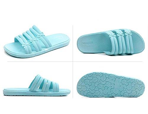 paia 40 Sandali da bagno pantofole antiscivolo Pantofole 2 da donna Ciabatte con morbide Bagno interni suola 41 AqgdZxw6