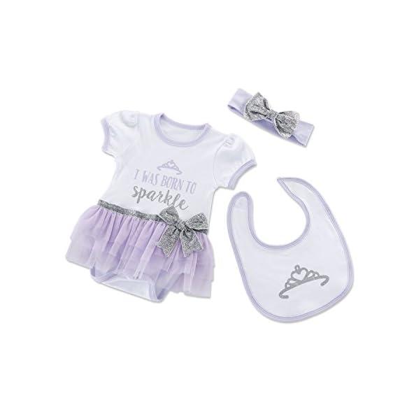 Baby Aspen Born to Sparkle 3 Piece Gift Set