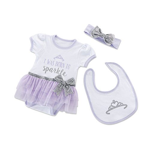 Baby Aspen Born to Sparkle 3 Piece Gift Set