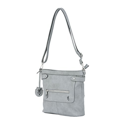 Browning Women's Catrina Handbag Purse, Gray, 11.5