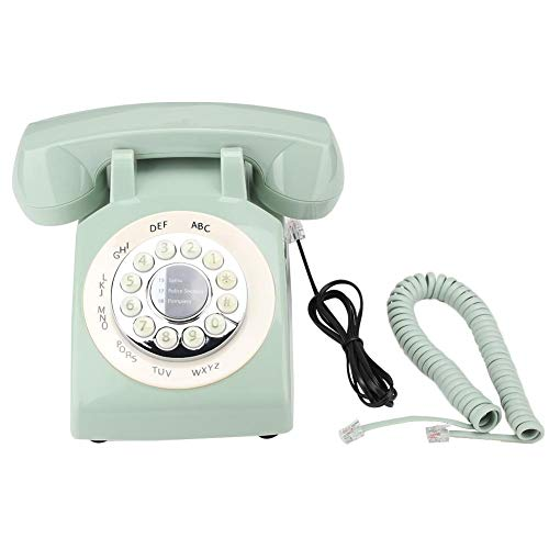 Tosuny Corded Phone, Home Phones Retro Style Vintage Old Fashioned Landline Phone with Speakerphone Telephone Desk Phone House Phone(Green) from Tosuny