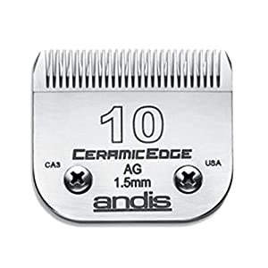 Andis CeramicEdge Carbon-Infused Steel Pet Clipper Blade, Size-10, 1/16-Inch Cut Length (64315) 40