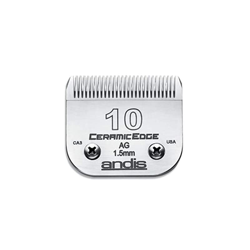 dog supplies online andis ceramicedge carbon-infused steel pet clipper blade, size-10, 1/16-inch cut length (64315)
