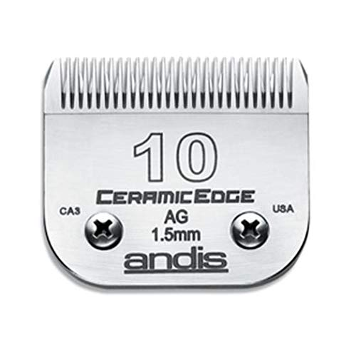 (Andis CeramicEdge Carbon-Infused Steel Pet Clipper Blade, Size-10, 1/16-Inch Cut Length (64315))