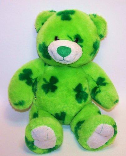 (Build a Bear Workshop BAB Lucky Bear Green Shamrocks)