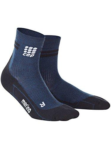 CEP Men's Dynamic+ Merino Short Socks, Navy/Black, III
