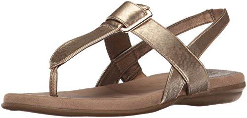 Gold Soft Sandals (LifeStride Women's Brooke Flat Sandal, Soft Gold, 7.5 M US)