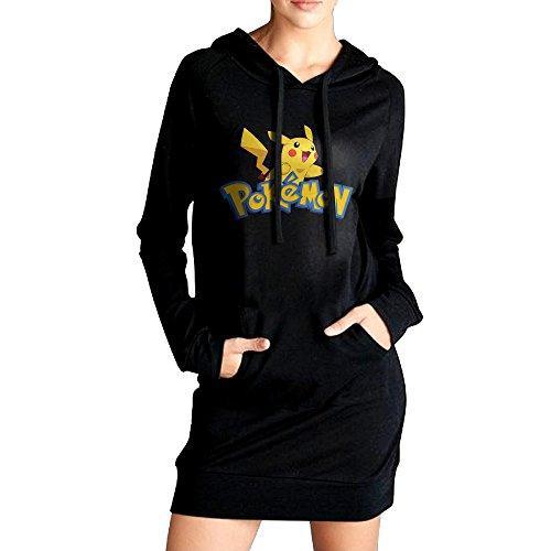 (Pokemon Pikachu Women Long Sweatshirt Hoodies Coat)