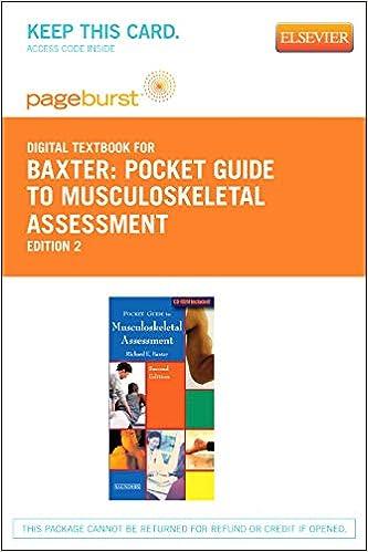 Pocket Guide To Musculoskeletal Assessment Elsevier Ebook
